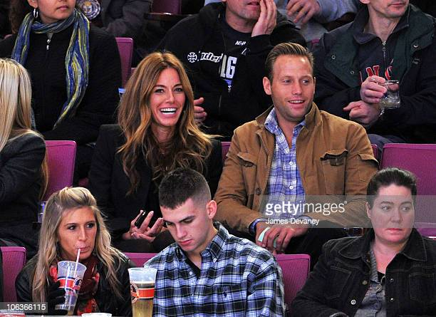 Kelly Bensimon and boyfriend attend the Carolina Hurricanes Vs NY Rangers Game at Madison Square Garden on October 29 2010 in New York City