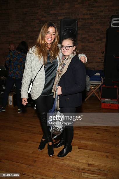 Kelly Bensimon and daughter Teddy Bensimon attend petitePARADE / Kids Fashion Week at Bathhouse Studios on February 28 2015 in New York City