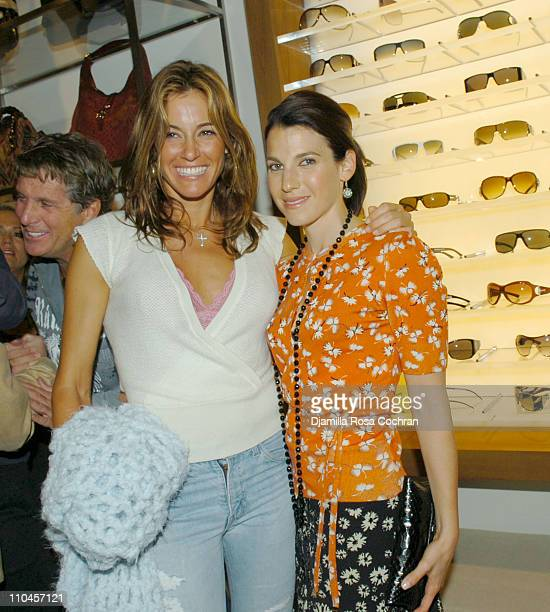 Kelly Bensimon and Jessica Seinfeld during Gucci Celebrates The Opening of The New East Hampton Store June 3 2006 at Gucci Store in East Hampton New...