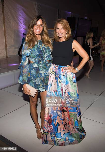 Kelly Bensimon and Jill Zarin attend the Samuel Waxman Cancer Research Foundation 11th Annual A Hamptons Happening on July 11 2015 in Southampton New...