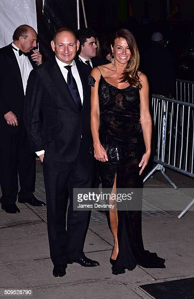 Kelly Bensimon and John Demsey arrive to 2016 amfAR New York Gala at Cipriani Wall Street on February 10 2016 in New York City
