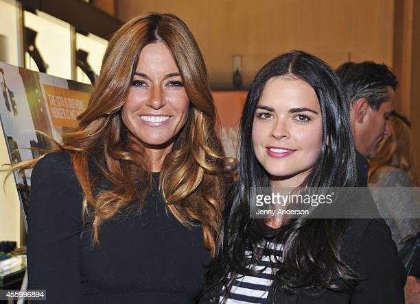Kelly Bensimon and Katie Lee attend the Shop 'Til You Drop For Go Orange To End Hunger Benefit at Henri Bendel Boutique on September 23 2014 in New...