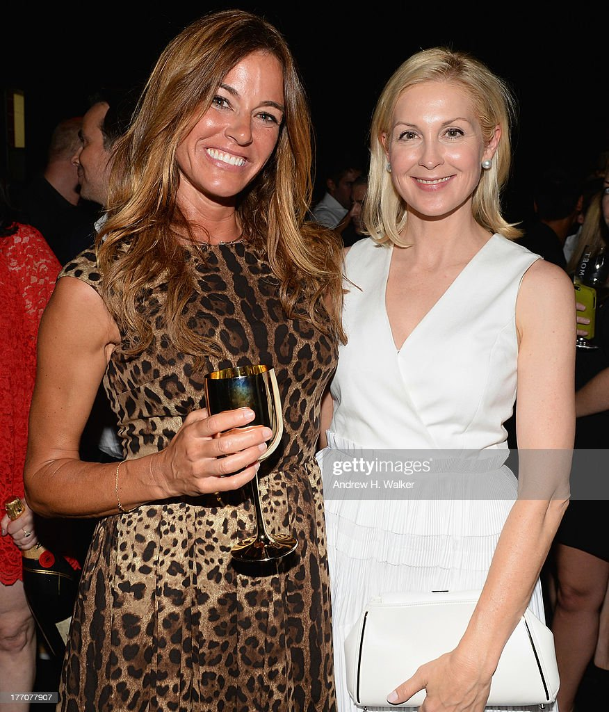 Kelly Bensimon (L) and Kelly Rutherford attend Moet & Chandon Celebrates Its 270th Anniversary With New Global Brand Ambassador, International Tennis Champion, Roger Federer at Chelsea Piers Sports Center on August 20, 2013 in New York City.