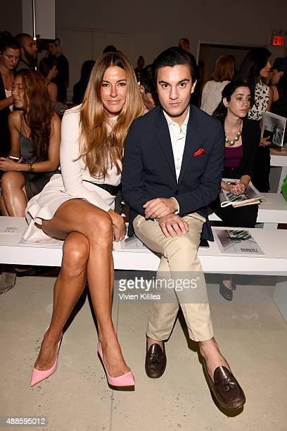 Kelly Bensimon and Kevin Michael Barba attends Bibhu Mohapatra Spring 2016 during New York Fashion Week The Shows at The Gallery Skylight at Clarkson...