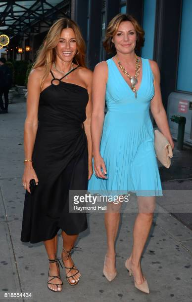 Kelly Bensimon and LuAnn de Lesseps are seen in Soho on July 18 2017 in New York City