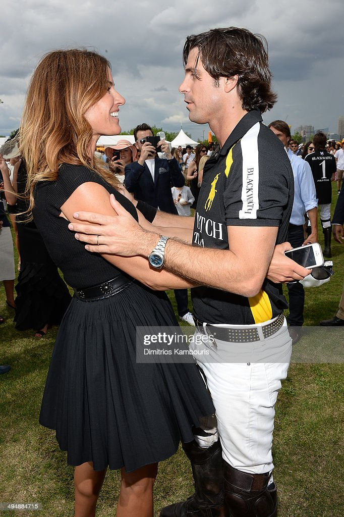 Kelly Bensimon and Nacho Figueras attend the seventh annual Veuve Clicquot Polo Classic in Liberty State Park on May 31, 2014 in Jersey City City.