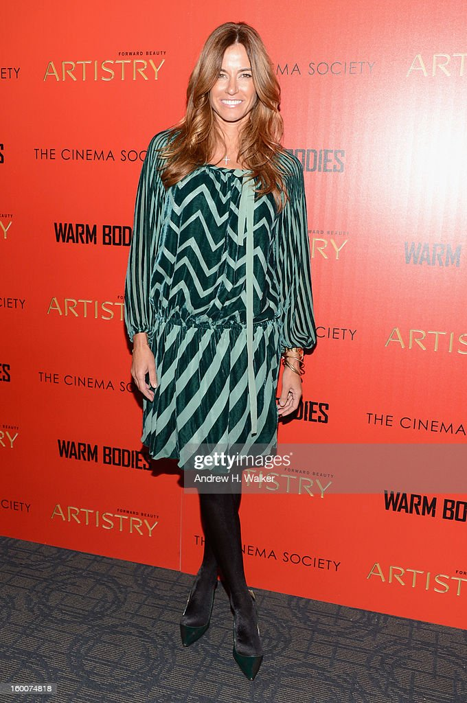 Kelly Bensimon attends a screening of 'Warm Bodies' hosted by The Cinema Society at Landmark's Sunshine Cinema on January 25, 2013 in New York City.
