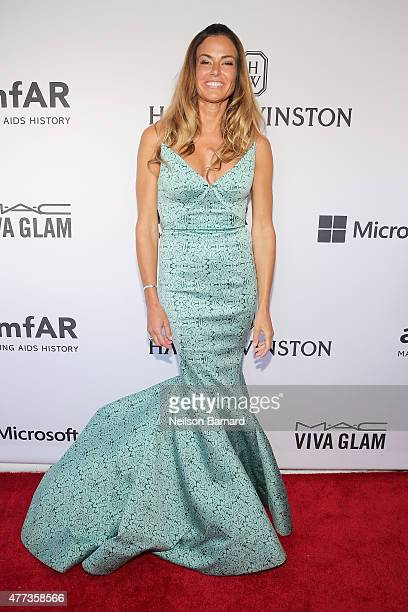 Kelly Bensimon attends the 2015 amfAR Inspiration Gala New York at Spring Studios on June 16 2015 in New York City
