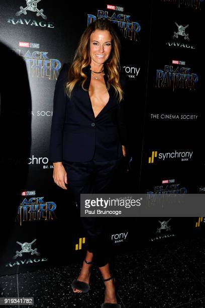 Kelly Bensimon attends The Cinema Society with Ravage Wines Synchrony host a screening of Marvel Studios' 'Black Panther' at The Museum of Modern Art...