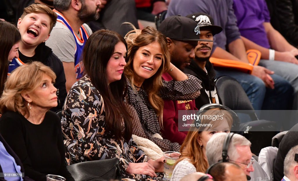 Celebrities Attend The New York Knicks Vs Milwaukee Bucks Game : News Photo
