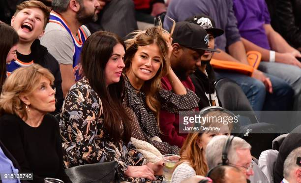 Kelly Bensimon attends the New York Knicks vs Milwaukee Bucks game at Madison Square Garden on February 6 2018 in New York City