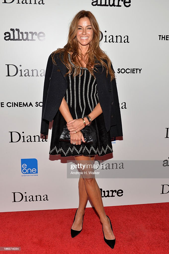 Kelly Bensimon attends the screening of Entertainment One's 'Diana' hosted by The Cinema Society With Linda Wells and Allure Magazine at SVA Theater on October 30, 2013 in New York City.