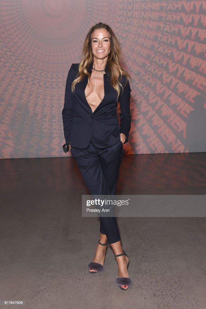 Kelly Bensimon attends the Vivienne Tam front row during New York Fashion Week at Spring Studios on February 13, 2018 in New York City.