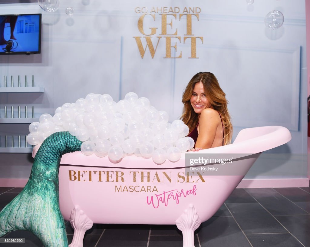 Kelly Bensimon attends Too Faced's Better Than Sex Pop-up Launch on October 18, 2017 in New York City.