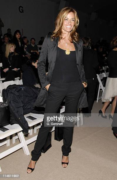 Kelly Bensimon during MercedesBenz Fashion Week Fall 2007 DOORI Front Row and Backstage at The Promenade Bryant Park in New York City New York United...