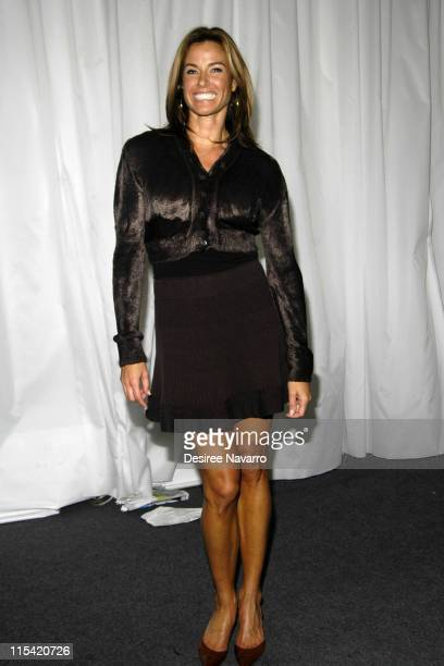 Kelly Bensimon during Olympus Fashion Week Fall 2006 Baby Phat Inside Arrivals and Departures at The Tent Bryant Park in New York City New York...