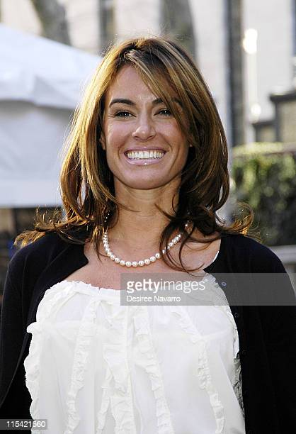 Kelly Bensimon during Olympus Fashion Week Fall 2006 Luca Luca Departures at Bryant Park in New York City New York United States