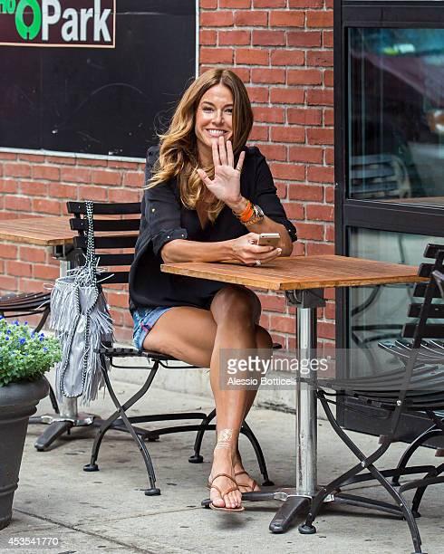 Kelly Bensimon is seen at Soho Park Restaurant on August 12 2014 in New York City