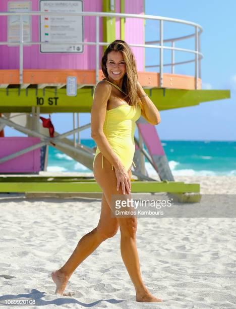 Kelly Bensimon is seen wearing Melissa Odabash on December 8 2018 in Miami Florida