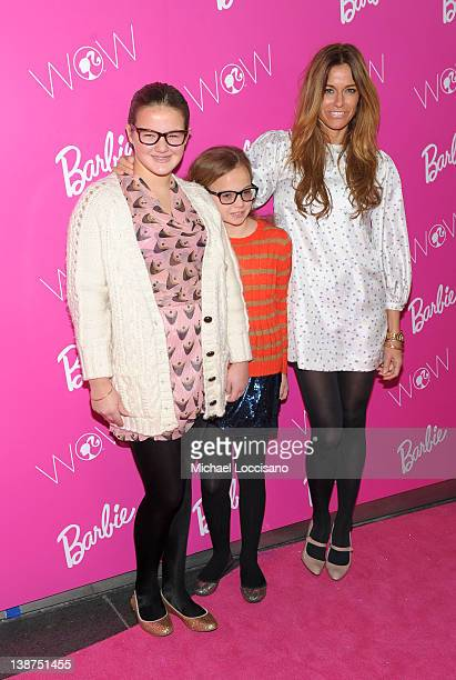 Kelly Bensimon with daughters Sea Bensimon and Teddy Bensimon attend Barbie The Dream Closet Playdate Saturday February 11th at David Rubenstein...