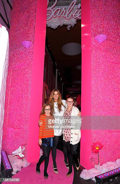 Kelly Bensimon with daughters Teddy Bensimon and Sea Bensimon attend Barbie The Dream Closet Playdate Saturday February 11th at David Rubenstein...