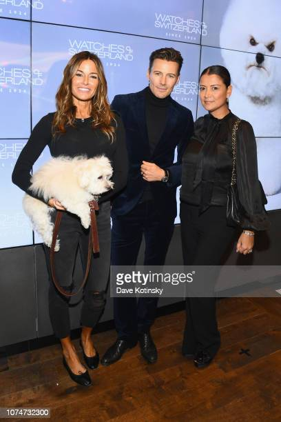 Kelly Bensimone Alex Lundqvist and Keytt Lundqvist attend the launch party at Watches of Switzerland on November 29 2018 in New York City