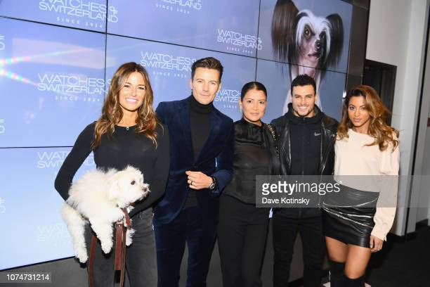 Kelly Bensimone Alex Lundqvist Evan Betts and guest attend the launch party at Watches of Switzerland on November 29 2018 in New York City