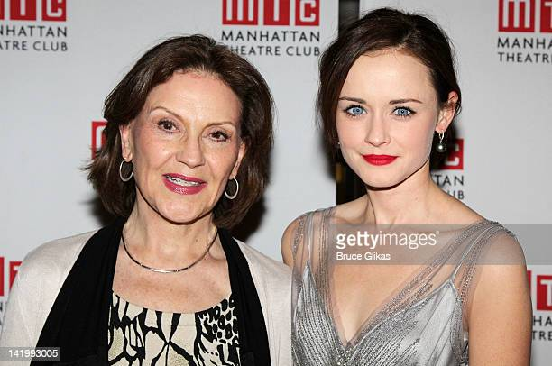 Kelly Bishop and Alexis Bledel attend Regrets OffBroadway opening night celebration at Beacon on March 27 2012 in New York City