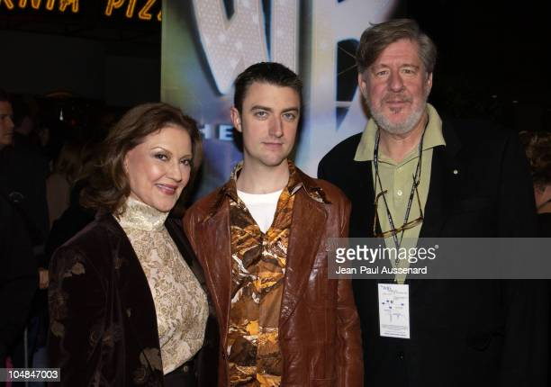 Kelly Bishop Sean Gunn and Edward Herrmann during The WB Network AllStar Celebration Arrivals at The Highlands in Hollywood California United States