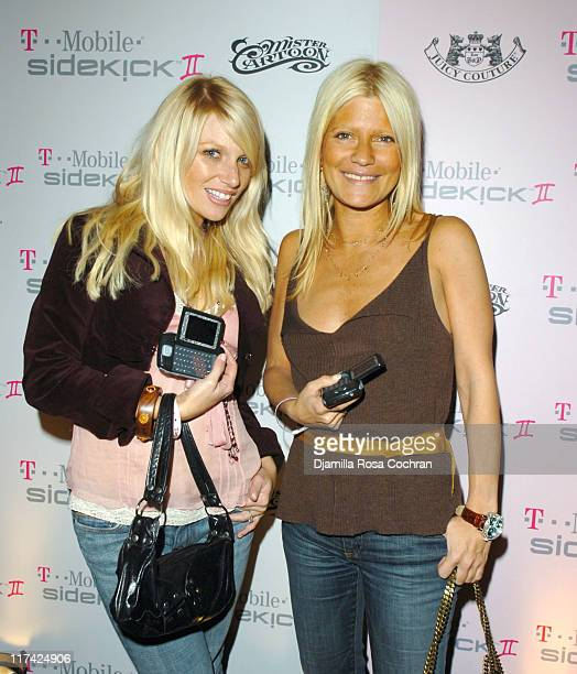 Kelly Brady and Lizzie Grubman during TMobile Sidekick II Launch Party at Marquee in New York City New York United States