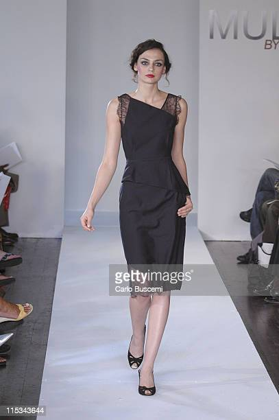 Kelly Briter wearing Multi By Bree Spring 2006 during Olympus Fashion Week Spring 2006 Multi by Bree Runway at Bryant Park Grill in New York City New...