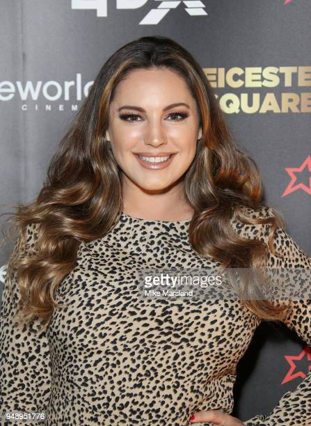 Kelly Brook aattends the launch of Cineworlds new 4DX screen at Cineworld Leicester Square on April 19 2018 in London England