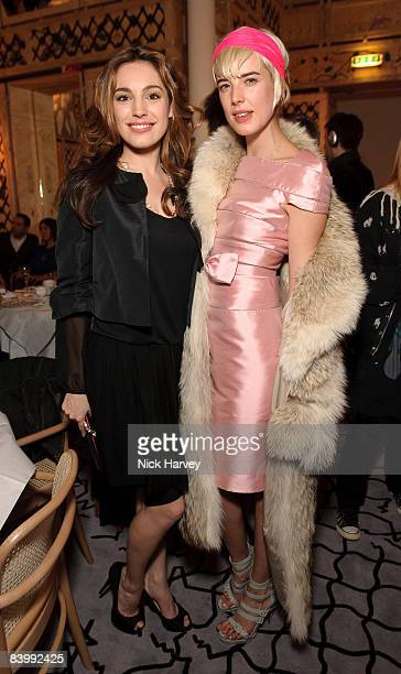 Kelly Brook and Agyness Deyn attendfashion magazine Love's Christmas Tea And Treasure Hunt at Royal Academy of Arts on December 10, 2008 in London,...