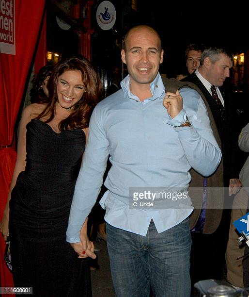 Kelly Brook and Billy Zane during 2005 FHM Sexiest Women Party Arrivals at Umbaba in London Great Britain