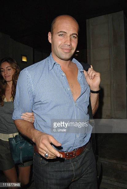 Kelly Brook and Billy Zane during Billy Zane and Kelly Brook Sighting at Cipriani's Restaurant in London Aug 2 2005 at Cipriani's Restaurant in...