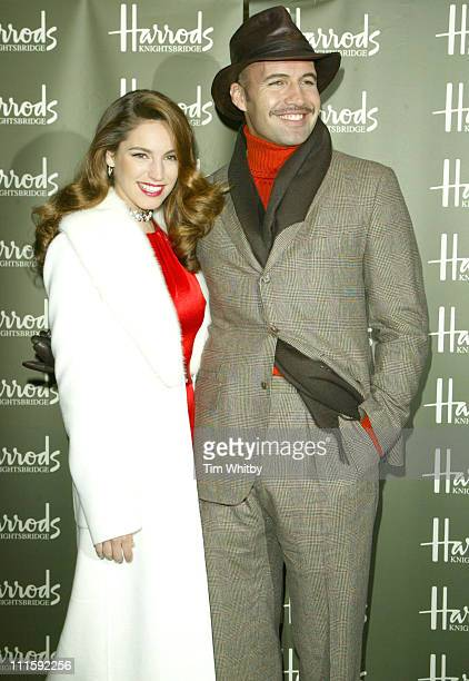 Kelly Brook and Billy Zane during Harrods January Sale Opening and Photocall December 28 2005 at Harrods in London Great Britain