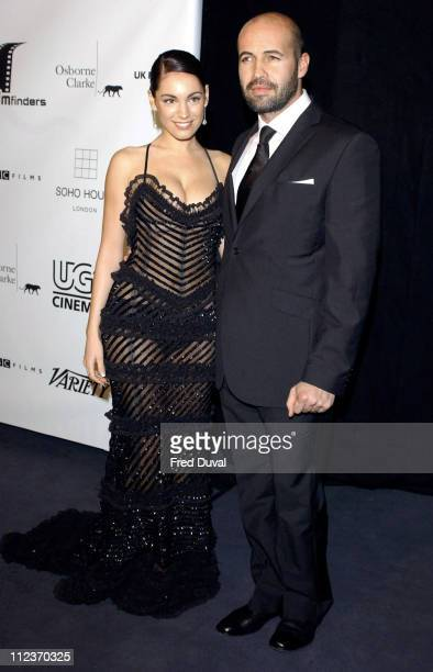 Kelly Brook and Billy Zane during The 2004 British Independent Film Awards Arrivals at Hammersmith Palais in London Great Britain