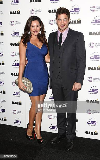 Kelly Brook and Danny Cipriani attend the JLS Foundation and Cancer Research UK fundraiser at Battersea Evolution on June 6, 2013 in London, England.