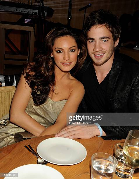 Kelly Brook and Danny Cipriani attend the launch party for the opening of TopShop's Knightsbridge store on May 19, 2010 in London, England.