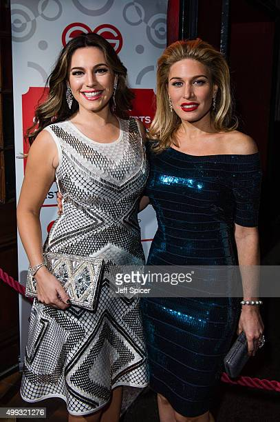 Kelly Brook and Hofit Golan attend Eastern Seasons' Gala Dinner at Madame Tussauds on November 30 2015 in London England