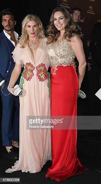 CANNES FRANCE MAY 18 Kelly Brook and Hofit Golan sighted at the Chopard GOLD party in Cannes 2015 May 18 in Cannes France