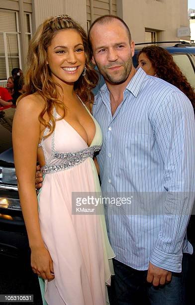 Kelly Brook and Jason Statham during MTV Movie Awards 2004 Backstage and Audience at Sony Pictures Studios in Culver City California United States