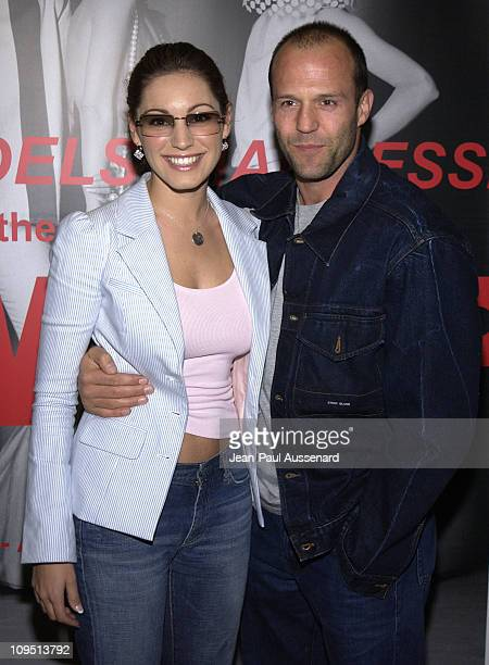 Kelly Brook and Jason Statham during 'Murder Models Madness' 'BlowUp' Premiere to Benefit the Elizabeth Glaser Pediatric AIDS Foundation at HQ...