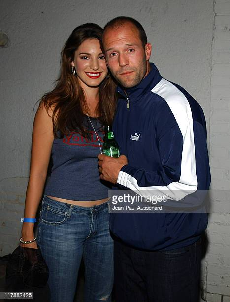 Kelly Brook and Jason Statham during PlayStation 2 and Mark Wahlberg Host Celebrity Gaming Tournament for Charity - Inside at Club Ivar in Hollywood,...
