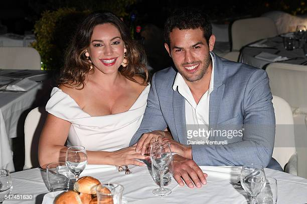 Kelly Brook and Jeremy Parisi attend the 2016 Ischia Global Film Music Fest on July 14 2016 in Ischia Italy