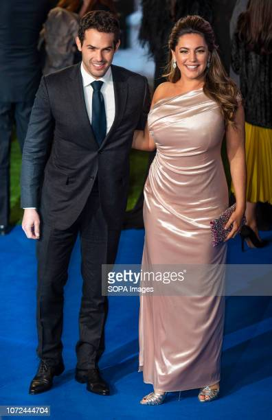 Kelly Brook and Jeremy Parisi attend the European Premiere of 'Mary Poppins Returns' at Royal Albert Hall