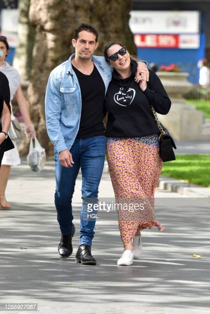Kelly Brook and Jeremy Parisi sighting on July 13 2020 in London England