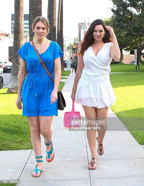 Kelly Brook and Michaella Bolder are seen in Beverly Hills on January 7 2015 in Los Angeles California
