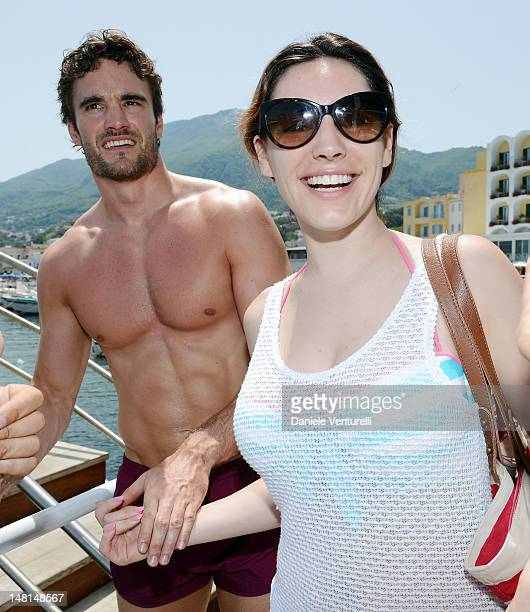 Kelly Brook and Thom Evans are seen at the Ischia Global Fest 2012 on July 11 2012 in Ischia Italy