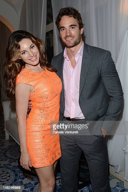 Kelly Brook and Thom Evans attend Day 5 of the 2012 Ischia Global Fest on July 12 2012 in Ischia Italy